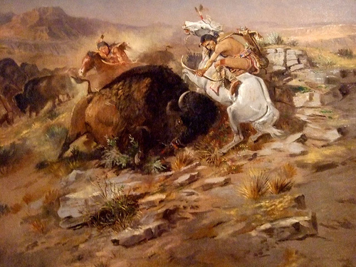 Indian Buffalo Hunt - Charles Marion Russell