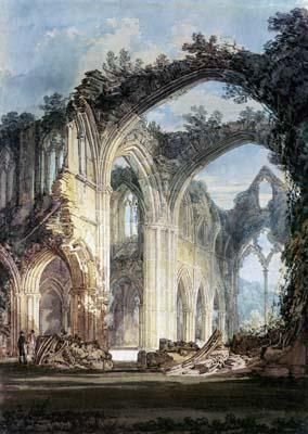 Inside of Tintern Abbey - Joseph Mallord William Turner
