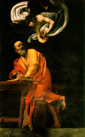 Inspiration of Saint Matthew - Caravaggio