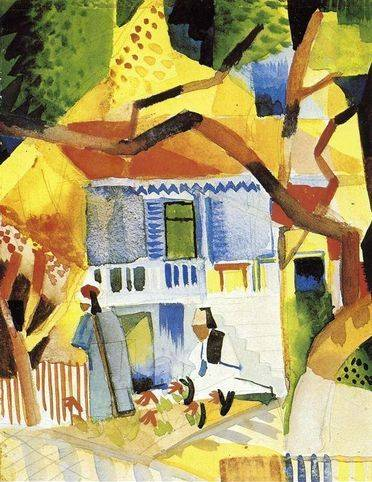 Interior Courtyard - August Macke