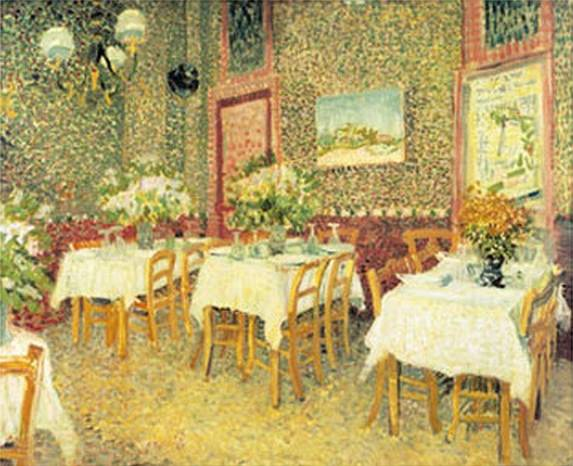 Interior of a Restaurant - Vincent van Gogh