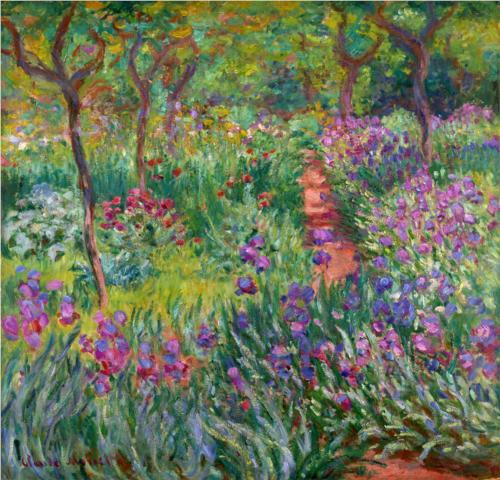 Irises at Giverny - Claude Monet