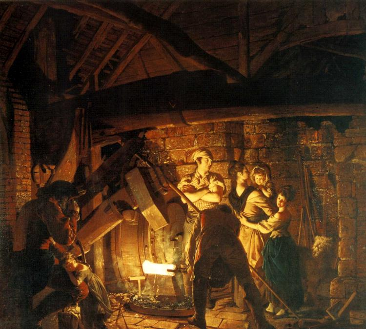 Iron Forge - Joseph Wright of Derby
