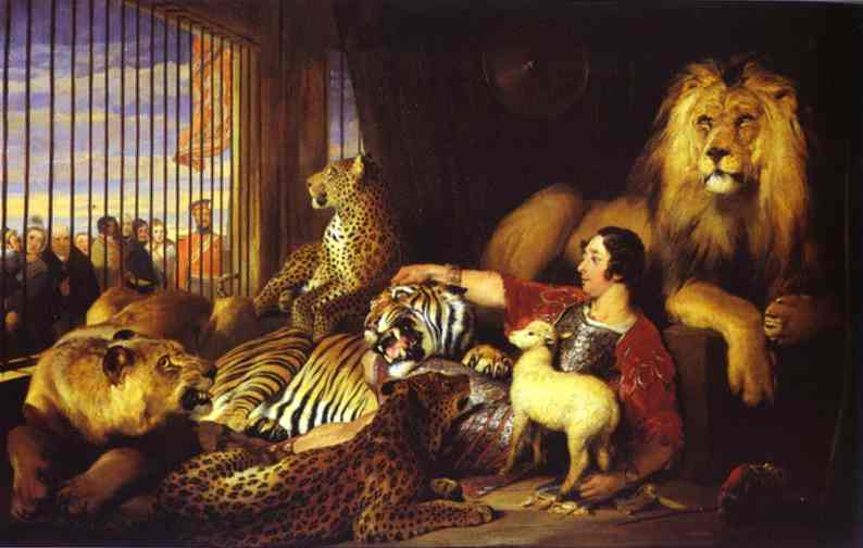 Isaac Van Amburgh and His Animals - Edwin Henry Landseer