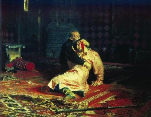 Ivan the Terrible and His Son Ivan - Ilya Repin
