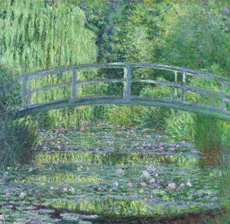 Japanese Bridge over Water Lilies - Claude Monet