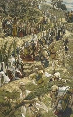 Jesus Enters Jerusalem on Palm Sunday - James Tissot