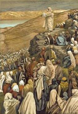 Jesus Preaches the Sermon on the Mount - James Tissot