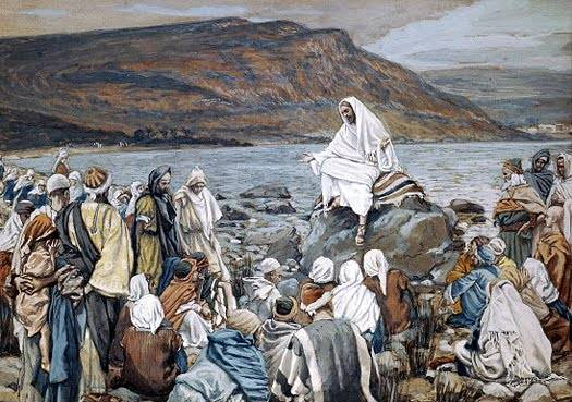 Jesus Teaching by the Seashore - James Tissot