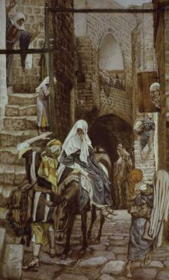 Joseph Seeks Lodging at Bethlehem - James Tissot