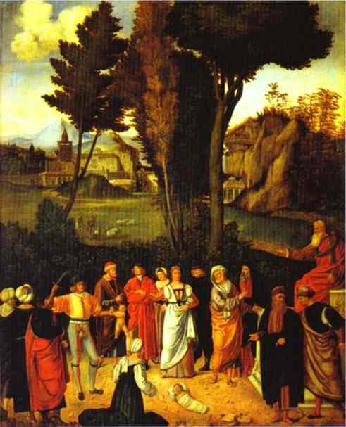 Judgment of Solomon - Giorgione (Giorgio Barbarelli da Castelfranco)