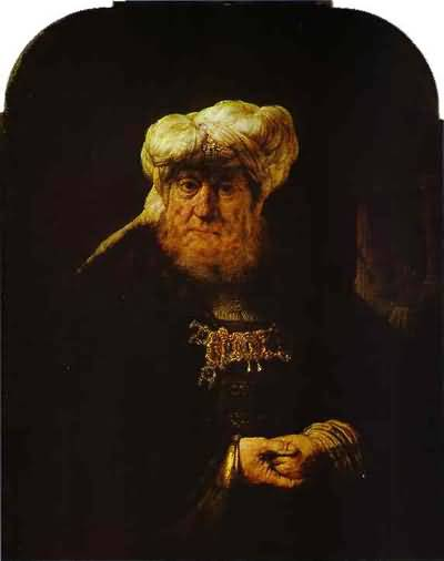 King Uzziah Stricken with Leprosy - Rembrandt van Rijn