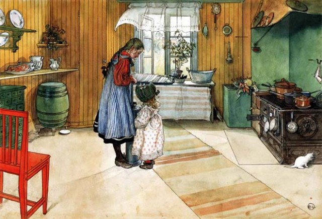 Kitchen - Carl Larsson