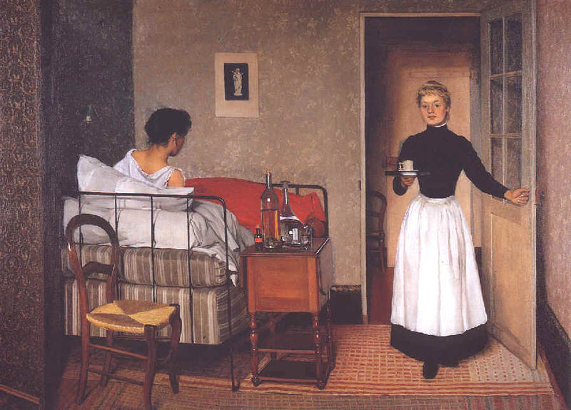 La Malade (Invalid) - Felix Vallotton