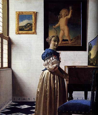 Lady Standing at the Virginal - Jan Vermeer van Delft