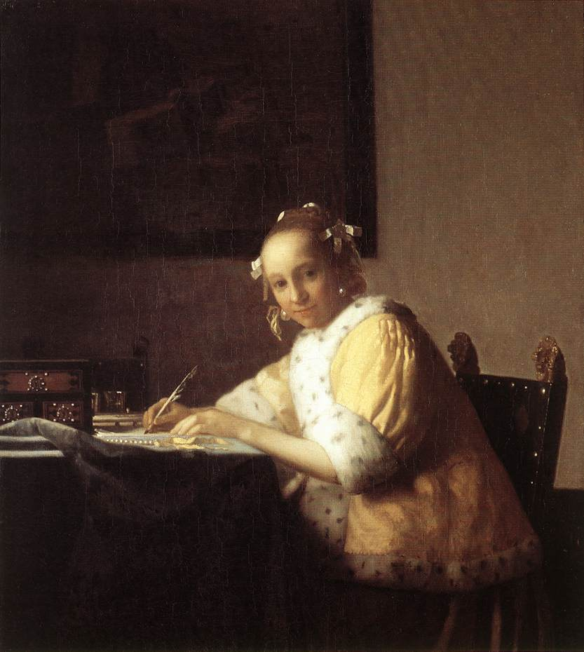 Lady Writing a Letter - Jan Vermeer van Delft