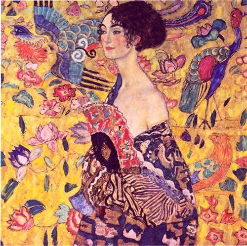 Lady with Fan -Gustav Klimt