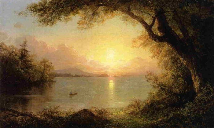 Lake Scene n the Adirondacks - Frederic Edwin Church
