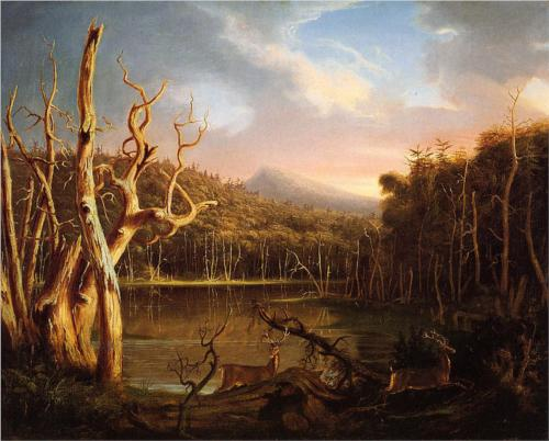 Lake with Dead Trees in the Catskills - Thomas Cole