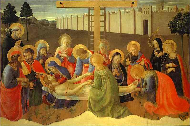 Lamentation over the Dead Christ - Fra Angelico