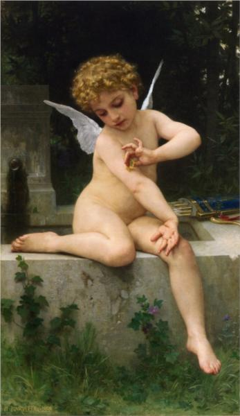 Lamour with the Butterfly - William Adolphe Bouguereau
