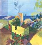 Landscape At Seaside - August Macke