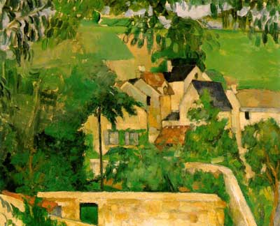 Landscape at Auvers - Paul Cezanne