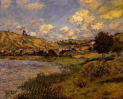 Landscape at Vetheuil - Claude Monet