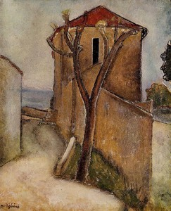 Landscape in the Midi - Amedeo Modigliani