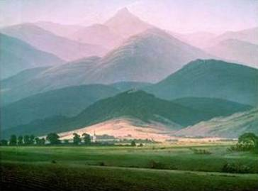 Landscape in the Riesengebirge - Caspar David Friedrich