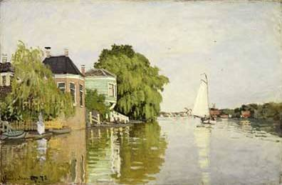 Landscape near Zaandam - Claude Monet