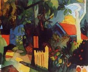 Landscape with Bright Trees - August Macke
