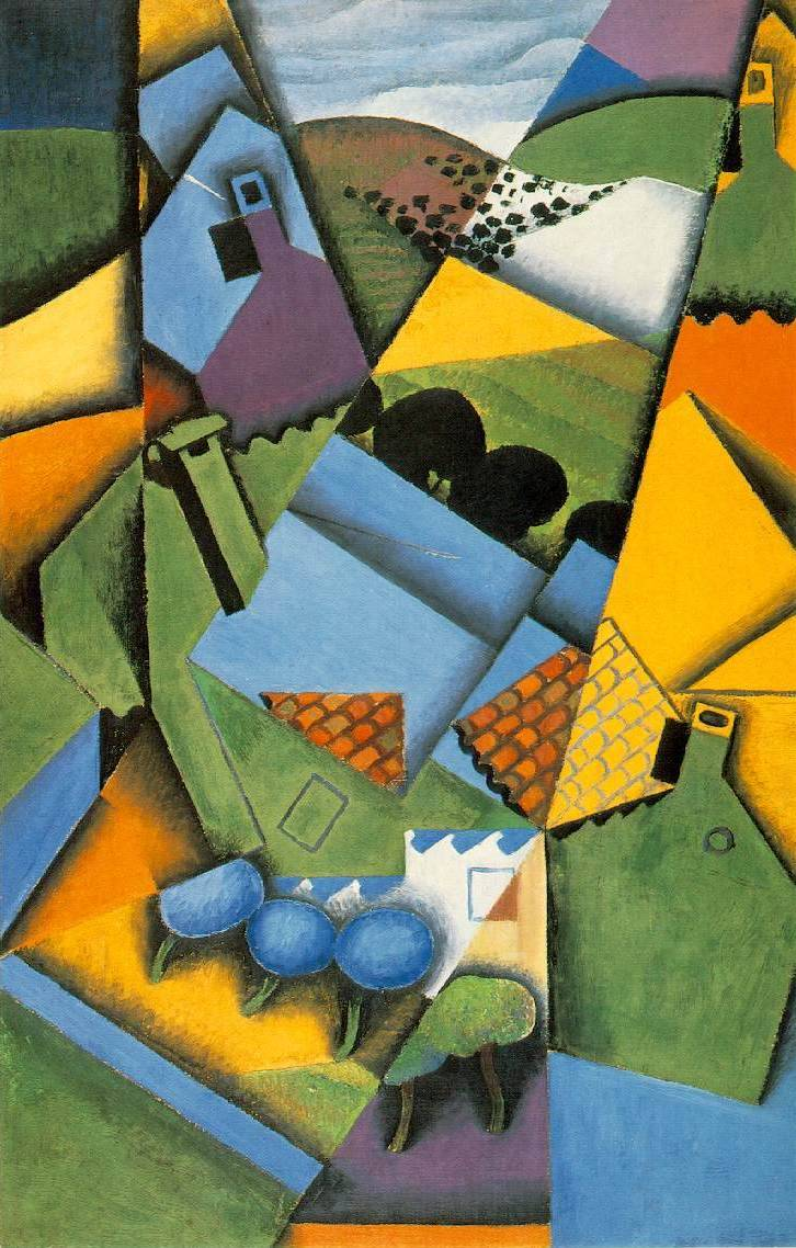 Landscape with Houses at Ceret - Juan Gris