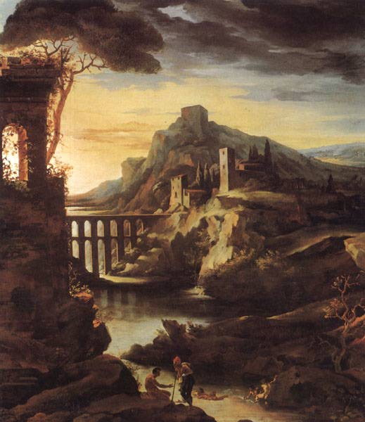 Landscape with an Aqueduct - Theodore Gericault