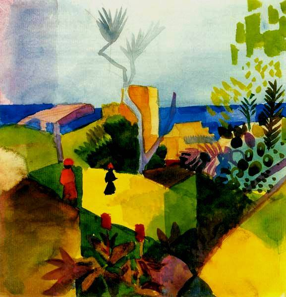 Landschaft Am Meer - August Macke