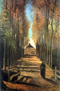 Lane of Poplars - Vincent van Gogh