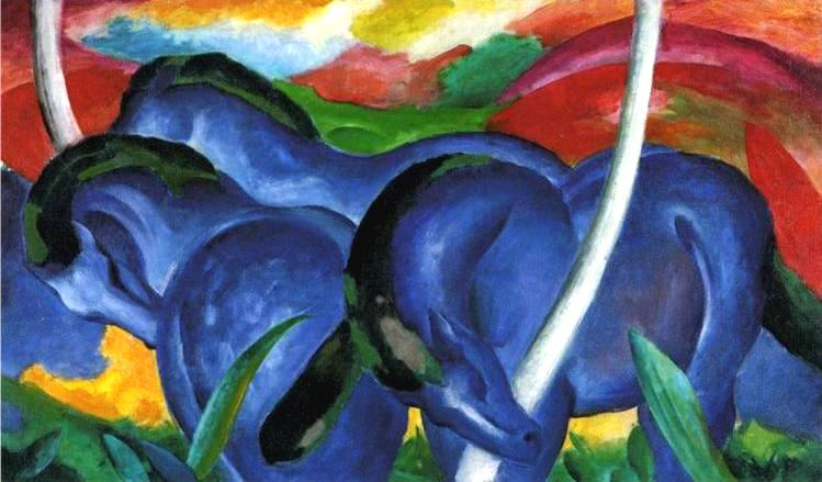 Large Blue Horses - Franz Marc