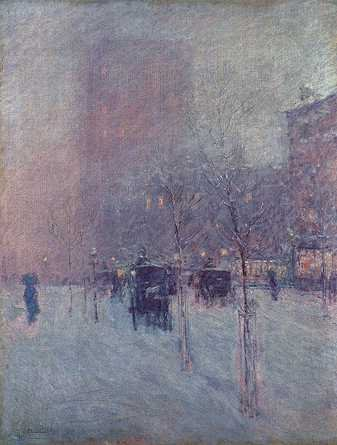 Late Afternoon, New York, Winter - Childe Hassam