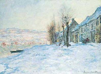 Lavacourt under the Snow - Claude Monet