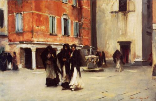 Leaving Church, Campo San Canciano, Venice - John Singer Sargent