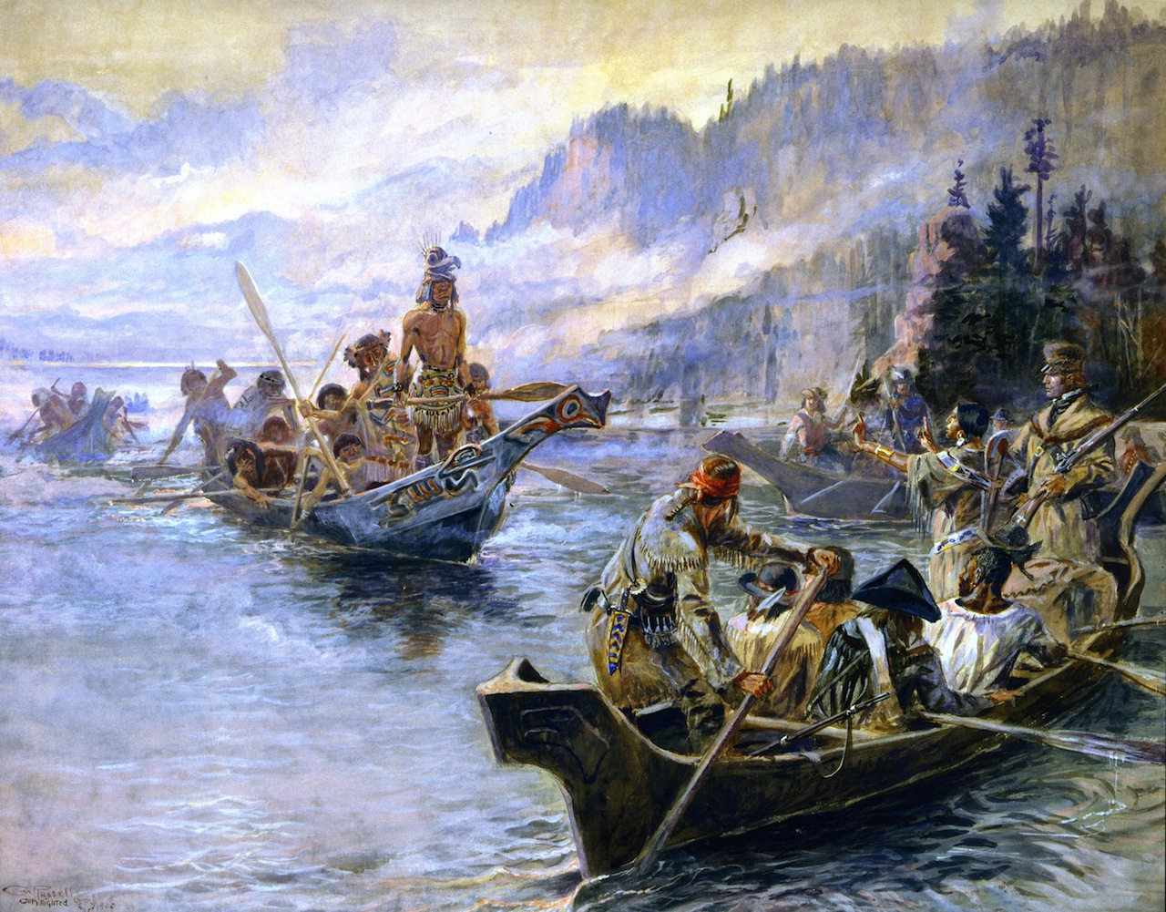 Lewis and Clark on the Lower Columbia - Charles M Russell