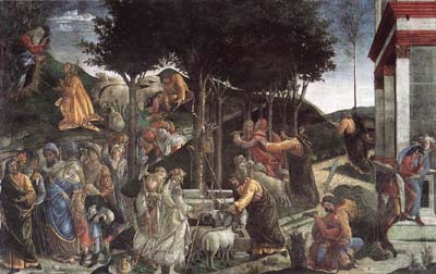 Life of Moses - Sandro Botticelli
