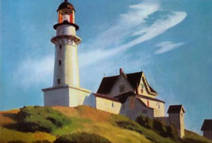 Lighthouse at Two Lights II - Edward Hopper