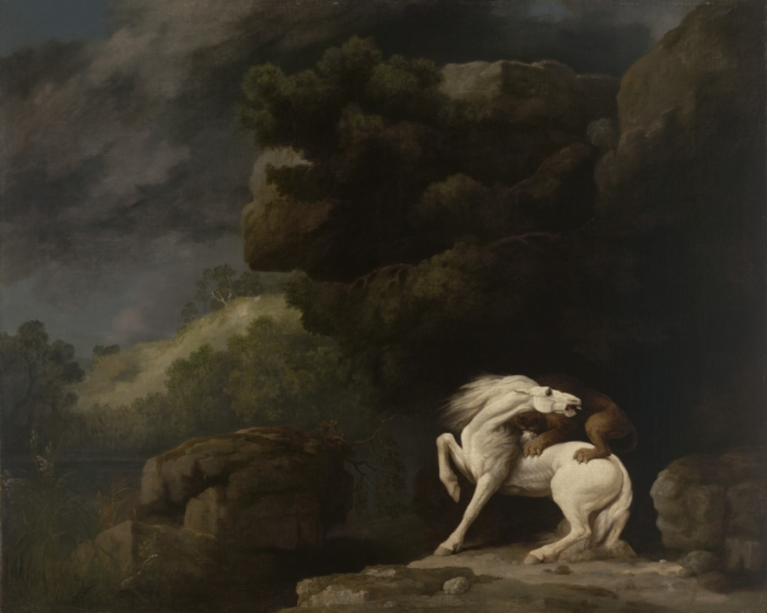 Lion Attacking a Horse - George Stubbs