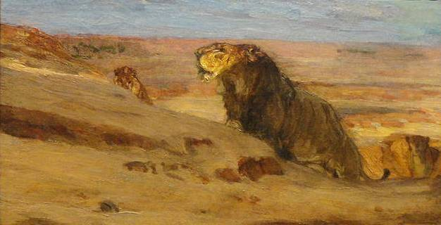 Lions in the Desert - Henry Ossawa Tanner