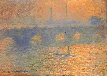 London & Waterloo Bridge - Claude Monet