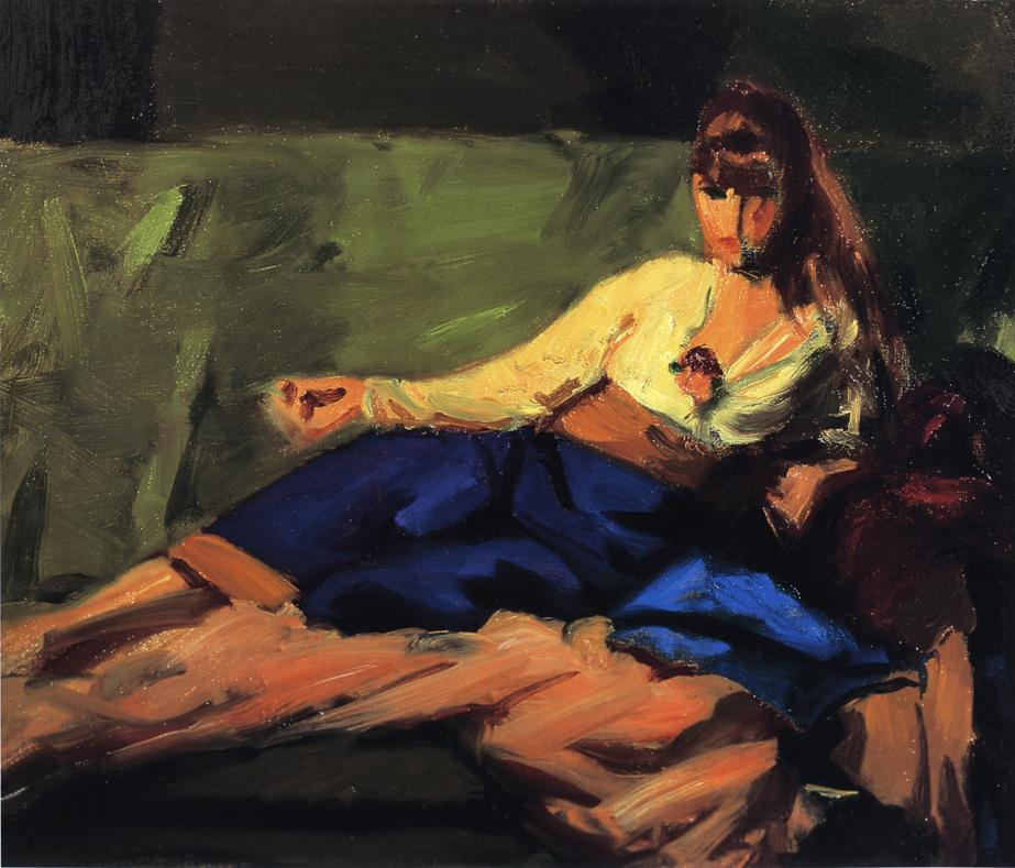 Lounge (Figure on a Couch) - Robert Henri