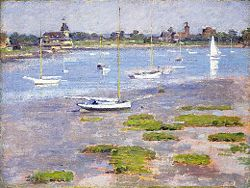 Low Tide Riverside Yacht Club - Theodore Robinson