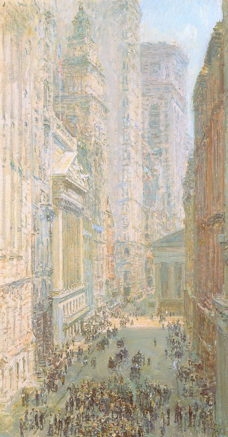 Lower Manhattan - Childe Hassam