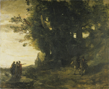 Macbeth and the Witches - Jean Baptiste Camille Corot